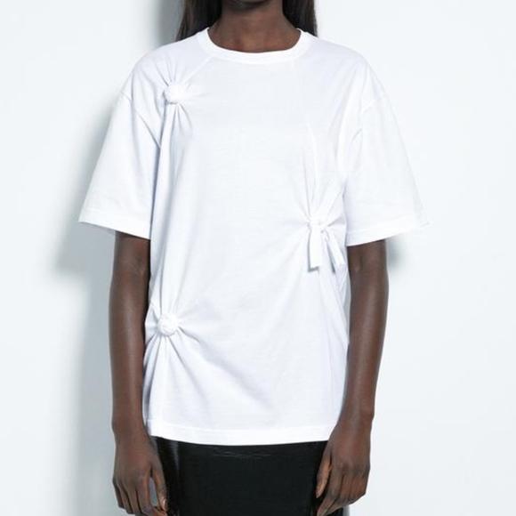 8bd846849 Helmut Lang Tops | Womens Knot Tee Oversized T Shirt | Poshmark